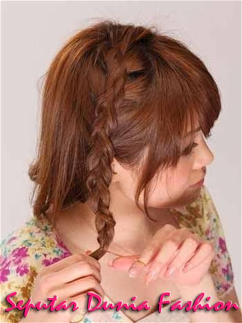 tutorial ikat rambut pendek ala korea kessdsds cara mengikat rambut pendek sebahu keren ala korea