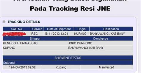 arti kode status cek resi jne tracking lingkar merah com inilah arti manifested on transit on process di jne