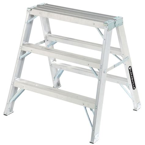 louisville ladder 3 ft aluminum step ladder with 300