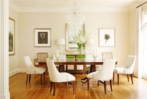 neutral dining room paint color is fleece by benjamin interiors