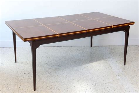 Modern Mahogany Dining Table Modern Mahogany And Maple Parquetry Inlaid Dining Table By Tommi Parzinger At 1stdibs