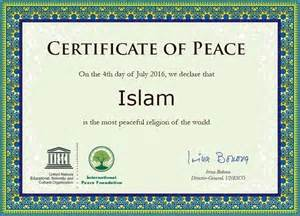 islam is a religion of peace announced by uno world s
