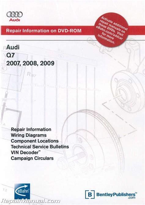 audi q7 2005 2009 factory repair manual factory manual audi q7 2007 2009 repair manual on dvd rom