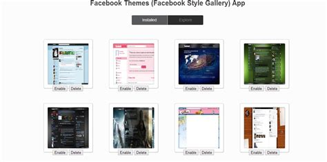 facebook themes no download facebook themes download
