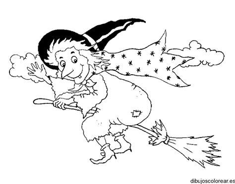 imagenes de brujas faciles para dibujar dibujo de una bruja que va en escoba
