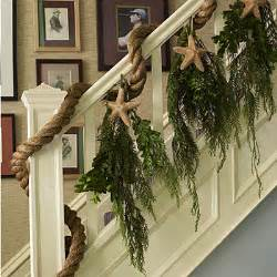 Christmas Decorating Ideas For Banisters Diy Coastal Beach Chic Christmas Decor The Inspired Room
