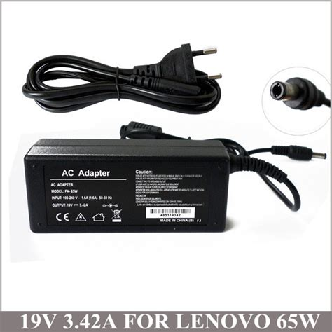 Adaptor Lenovo 19volt 342a 19v 3 42a 65w notebook ac adaptor laptop charger for lenovo ibm pa 1650 52lc g570 b575 b470
