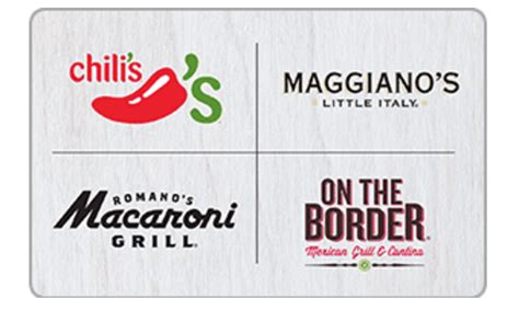 Gift Cards Chili S Other Restaurants - 50 restaurant gift cards for only 40 chili s maggiano s macaroni grill and more