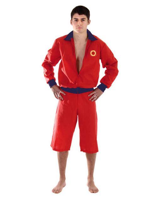 90s fancy dress costumes men adult std lifeguard fancy dress costume beach 90s mens