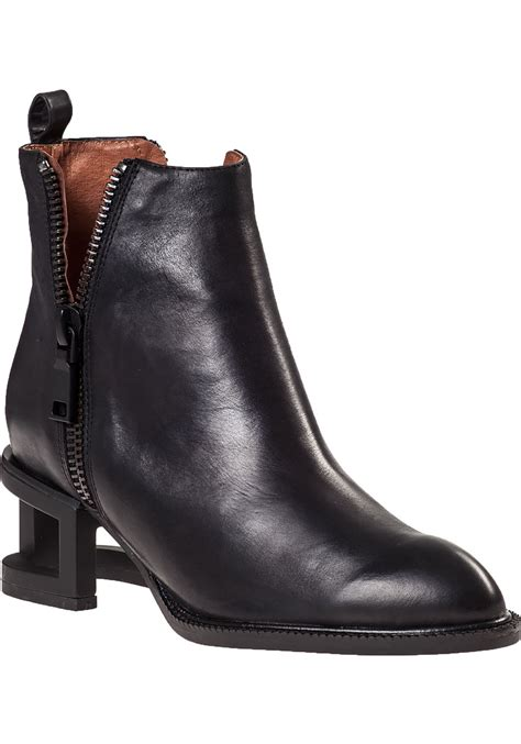 jeffrey cbell ankle boots jeffrey cbell boone cut out heel leather ankle boots in