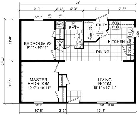 sle house floor plans washington 24 x 32 747 sqft mobile home factory expo