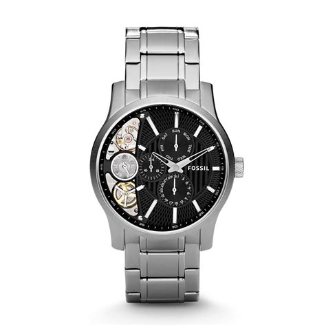 Fossil Twist fossil mechanical twist stainless steel black