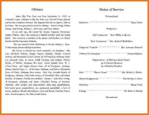 obituary template for best obituary templates