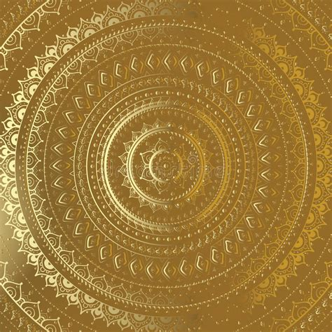 gold rate pattern in india gold mandala indian decorative pattern stock