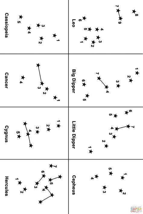 constellation map dot  dot supercoloringcom