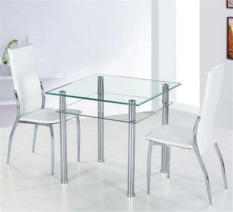 small glass dining table with metal table legs ideas