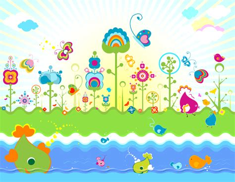 Floral Wall Mural free vector illustration fantasy land the shutterstock blog