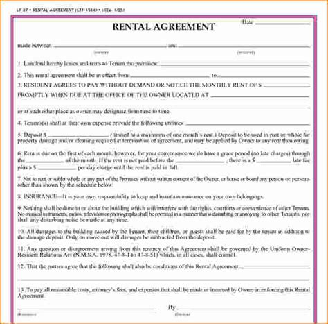 Month To Month Rental Agreement Template 8 simple rental agreement form printable receipt