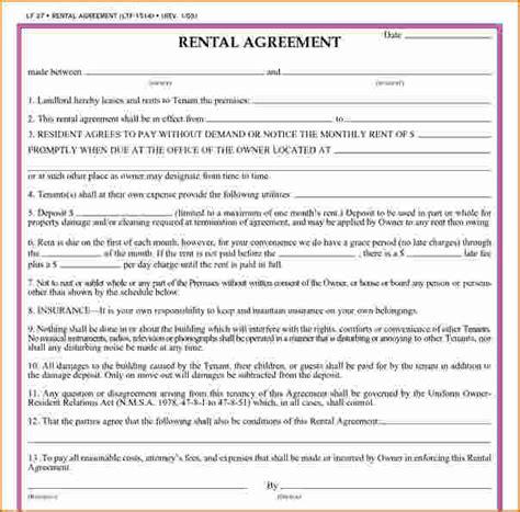 printable lease agreement wisconsin rental agreements printable rental lease agreement