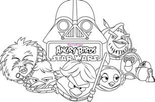 angry birds wars coloring pages free coloring pages of angry birds anakin