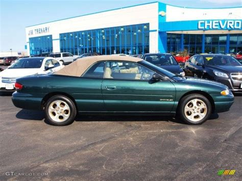 1998 chrysler sebring jxi convertible 1998 forest green pearl chrysler sebring jxi convertible