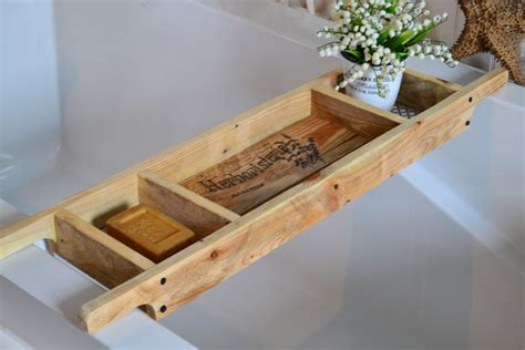 bathtub racks bath tray made to order recycled pallet by sharonmforthehome
