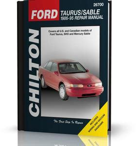 1986 1995 ford taurus and sable chilton manual northern auto parts sklep książka haynes ford connect