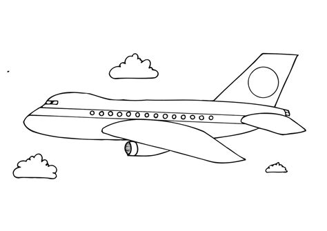 draw diagram aeroplane drawing for free printable airplane