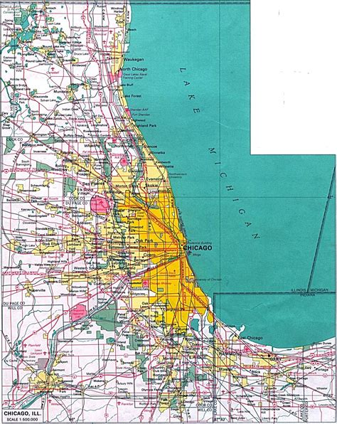 chicago city map large chicago maps for free and print high