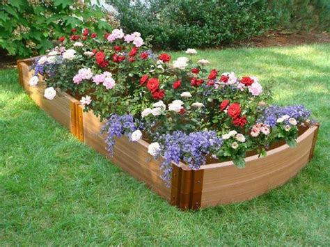 raised flower beds casual cottage