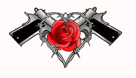 barbed wire skull and roses tattoo design