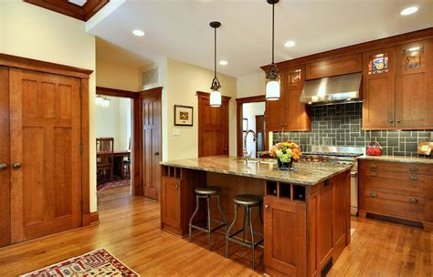 craftsman style kitchen lighting craftsman style kitchen kitchen craftsman with wine