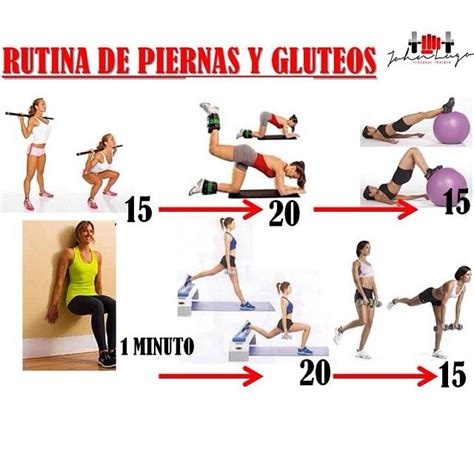 imagenes de ejercicios para workout 17 best images about rutina piernas y caderas on pinterest