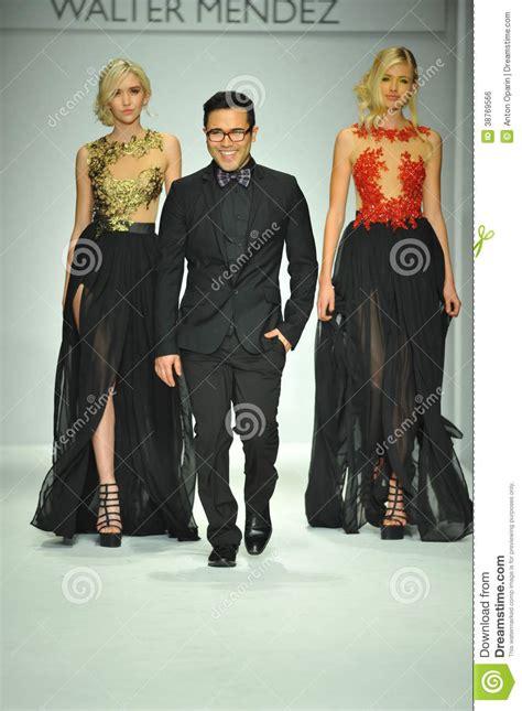 fashion design los angeles designer walter mendez and models walk runway editorial