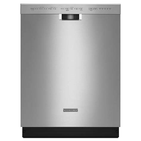 kitchenaid front dishwasher in stainless steel