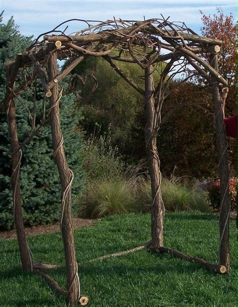 wedding arch vines wedding arch with grape vine hearts cool wedding ideas