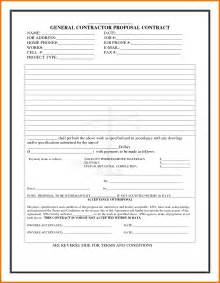 Contractor Bid Template by Doc 12751650 Free Construction Bid Template Printable