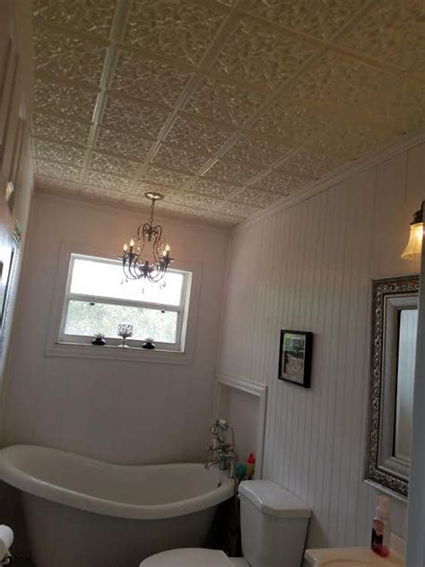 tiled ceiling in bathroom bathroom ceiling tiles tile design ideas
