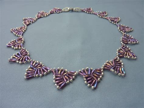 bugle bead patterns free beading pattern for necklace bugle triangles