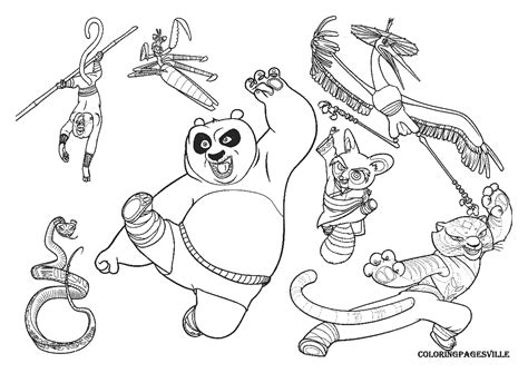 kung fu panda coloring book pages kung fu panda coloring pages