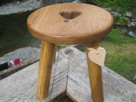 Ongoing Stools by Darker Coloured Oak Topped Wooden Stool