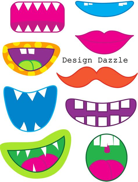 free printable monster photo booth props aaron s 1st bday ideas on pinterest monster party