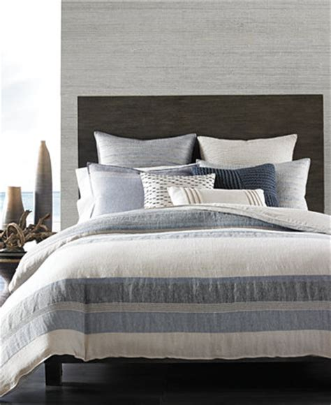 macy s bed linens hotel collection linen stripe bedding collection only at macy s bedding collections