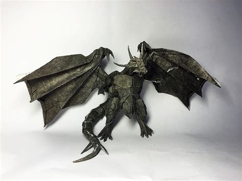 Origami Bahamut - 26 non traditional but still awesome origami dragons