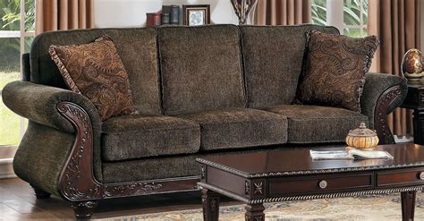 mandeville brown chenille sofa from homelegance coleman