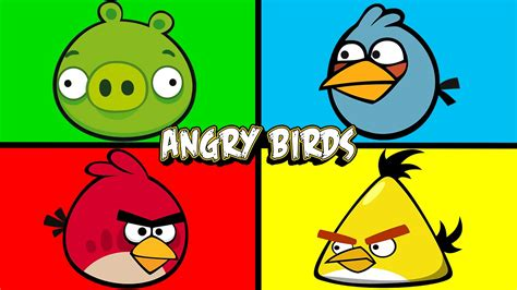 angry birds learning colors eggs angrybirds juniors