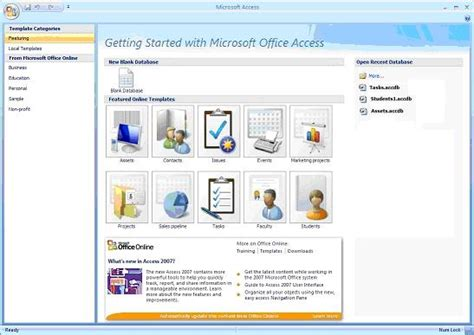 Discover The Power Of Microsoft Access Template Databases Microsoft 2007 Templates
