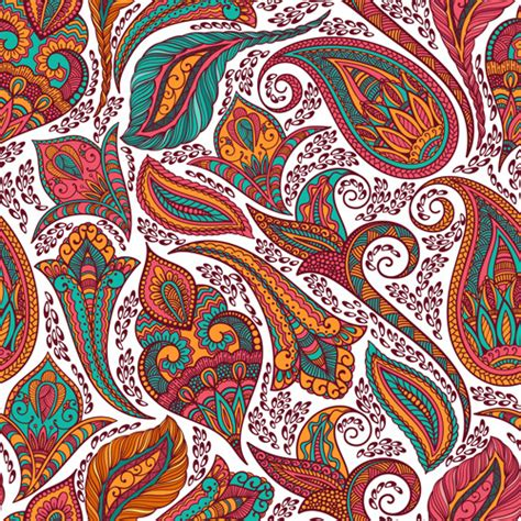 indian pattern vector ai paisley seamless patterns free vector download 18 988