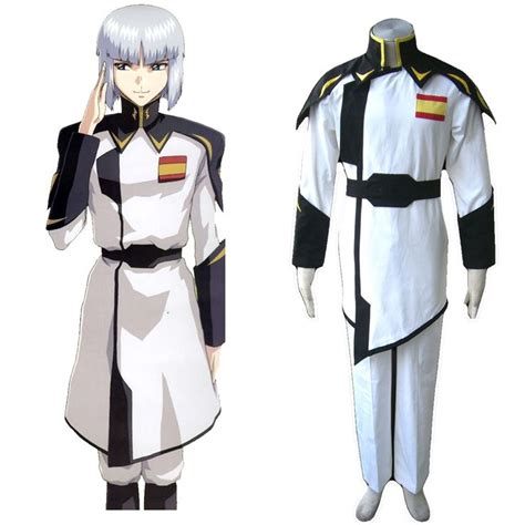 Sweater Anime Gundam deluxe gundam seed zaft army white captain clothing costumes anime gundam seed