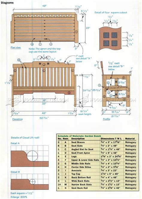 outdoor bench dimensions garden bench plans